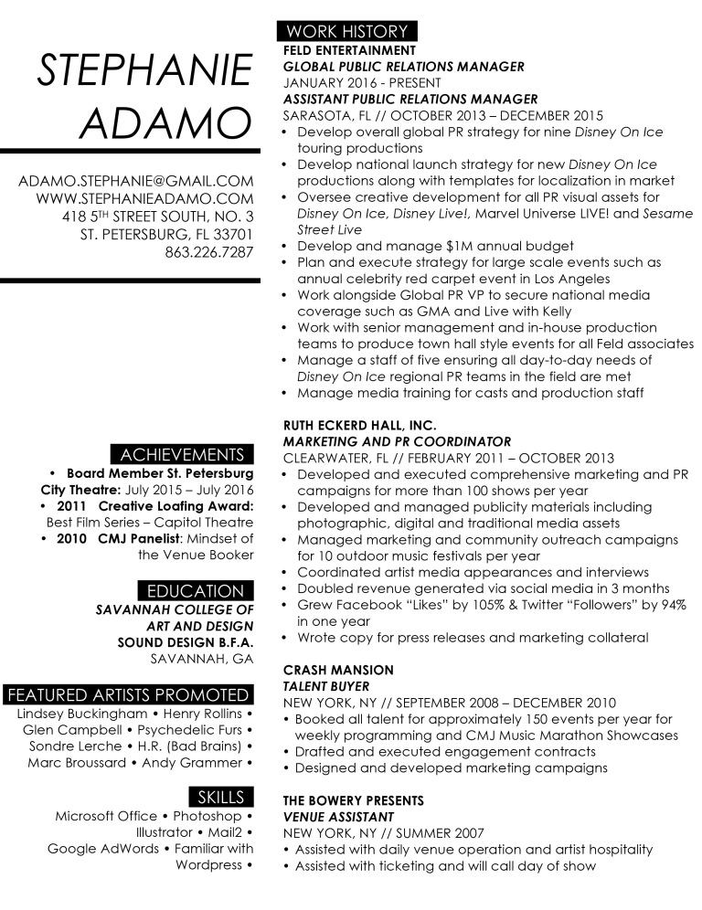 Microsoft Word - Stephanie Adamo Resume.docx